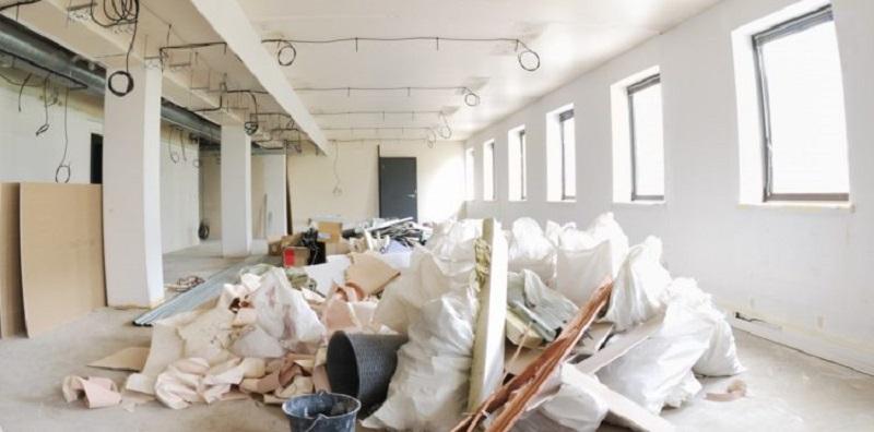 Dọn rác công trình tại quận 8